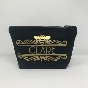 Personalised make up bag, queen bee, Manchester bee, make up bag,