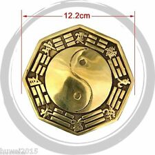 12.2cm Tai chi feng shui bagua mirror convex fish hasten lucky avoids disaster