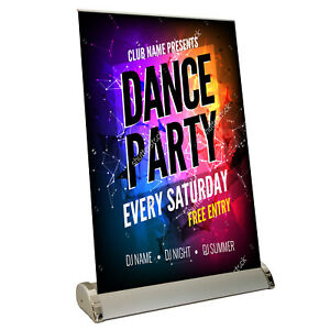 Roller Banner Stand Mini Desktop Display - Pull / Pop / Roll Up Exhibition Show