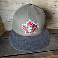 Toronto Blue Jays Fitted Hat New Era Ball Cap Rare Shades 59Fifty Size 7 3/8