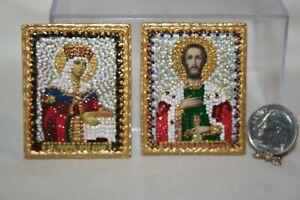 Miniature Dollhouse Greek/Russian Orthodox  Mosaic Icons Artisan 1:12 NR