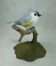 Tufted Titmouse Original Wood Carving