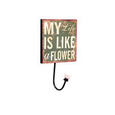 PERCHA DE MADERA CON LEYENDA EN INGLES: MY LIFE IS LIKE...21 CMTS. ALTO