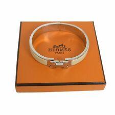 Auth HERMES Logos Clic Clac Enamel Bracelet Accessory w/Box F/S 18599bkac