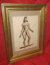 """aquarelle fauviste 1950""""femme nue """" par GASTON LIVRAGNE 1900-1984 coté akoun"""