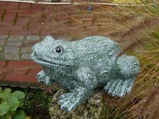 Steinfigur Tierfigur Frosch olivgrün groß