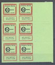 GB 1971 POSTAL STRIKE: OSBORNE BELMONT & SUTTON BLOCK OF 6 STAMPS MNH