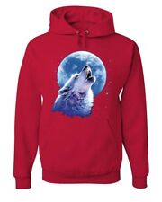 Call of the Wild Hoodie Lone Wolf Howling at the Moon Wildlife Sweatshirt
