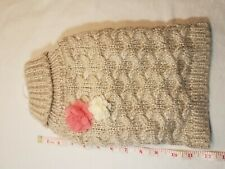 New listing Top Paw Dog Sweater Size Small S Cable Knit Pullover Flowers Cream - New!