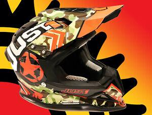New Just1 J12 Carbon Fiber Kombat Helmet Orange Adult X Small Lightweight