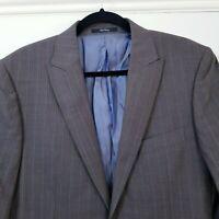 Mens Ted Baker London Wool Blend Blazer Jacket Size 4 (UK 40R) Brown Stripe