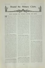 1903 PRINT MILITARY CLUBS SOLDIERS ARTICLE MUSKETRY REGULATIONS CAMPAIGNS