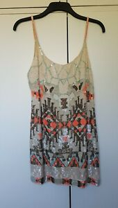 *Iconic* All Saints Aztec Embellished Sequin Mini Dress - Size 14
