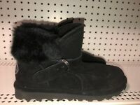 Bearpaw Koko Womens Suede Insulated Winter Snow Boots Size 9 Black