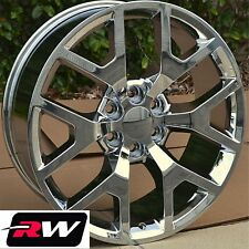 "22"" inch 22 x9"" Wheels for Chevy Avalanche Chrome GMC Sierra 2014 2015 Rims"
