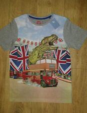 Ragazzi T-shirt Taglia 12 anni di Londra Bus + DINOSAURI + British Bandiera UK