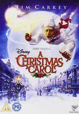 A CHRISTMAS CAROL DVD Jim Carrey Walt Disney Scrooge Ghosts Charles Dickens