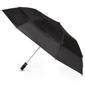 Totes Sport Auto Open Golf Size Vented Canopy Umbrella Black - 7104