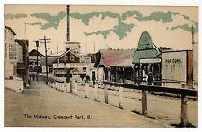 CRESCENT PARK AMUSEMENT PARK Rhode Island PC Postcard EAST PROVIDENCE RI Midway