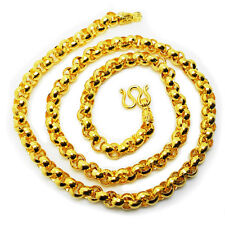 Men's Chain 22K 23K 24K Thai Baht Yellow Gold Plated Necklace 26 inch Jewelry