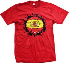 Spain Soccer Ball Flag Reino de España Spanish Spaniard Mens T-shirt