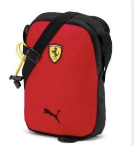 Puma Ferrari SF Fanwear Portable Unisex Shoulder Bag Red Black  076679-01