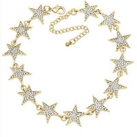 Strass Stern Kragen Choker Halskette Erklärung Schmuck Luxus Frauen HalsketteFT