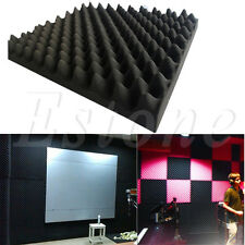 Acoustic Sound Stop Absorption Pyramid Studio Soundproof Foam Sponge 50x50x3cm