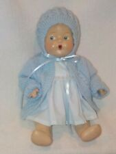 """Antique 12""""  Composition Baby Doll In Blue Knit Sweater"""
