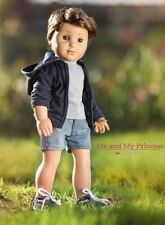 "HOODIE + SHIRT + SHORTS + BOAT SHOES Clothes for 18"" American Boy logan Doll"