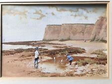 John O'Connor RI RHA - 1830-1889 - Watercolour Children Punting Boats Irish Art