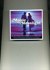 MUSIC BY MOONLIGHT - ACKER BILK RAY CONNIFF BILLY VAUGHN - 3 CDS - NEW!!