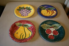Set of 4 Tabletops Unlimited Brightly Colored Fruit Plates