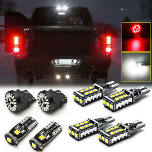 8Pcs Car Red LED LED Reverse License Cargo Light Kit For Car Auto Accessories