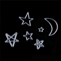 Star Moon Metal Cutting Dies Stencil For Scrapbooking DIY AlbumCards+Decor Jf