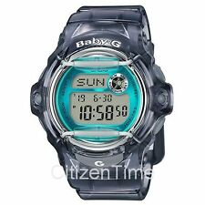 -NEW- Casio Baby-G Gray / Teal Accents Watch BG169R-8B