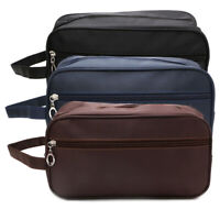 Travel Toiletry Organizer Bag Canvas Shaving Kit Makeup Bag Case for Men Women