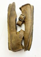Clarks Mary Jane Flats Shoes Women's Size 6 Crepe Sole Brown Leather