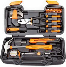 Craftsman 39 pc Hand Tool Set With Household Orange Storage Case Toolbox Kit