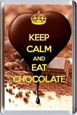 KEEP CALM and EAT CHOCOLATE FRIDGE MAGNET Unique Christmas Birthday Gift Idea