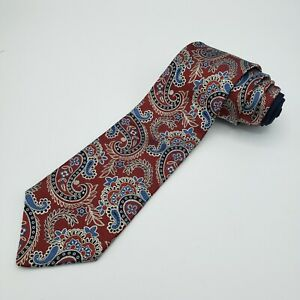 "Tommy Hilfiger - 100% Silk Men's Neck Tie -  Paisley Design 59""x3.5"" Made In USA"