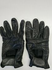 Olympia Men's Black Genuine Leather Motorcycle Riding Gloves WPL13171 XL Size