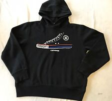 CONVERSE BLACK HOODIE WITH ALL STAR BOOT SIZE MEDIUM 10-12 YEARS