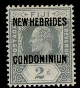 NEW HEBRIDES EDVII SG12, 2d grey, M MINT.