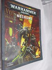 Warhammer  40k Necrons army book oop