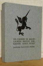 RILKE CAHIERS MALTE LAURIE BRIGGE illustré Hermine DAVID 1942 numéroté