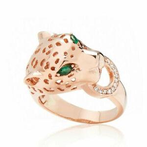 Effy Panther 10ct rose gold Ring
