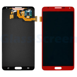 Samsung Galaxy Note 3 N900 LCD Screen Digitizer No Stylus Flex Film Pink Red