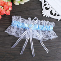 Women Lace Ribbon Bridal Wedding Garter Bowknot Lace Stockings Belt Party Gift