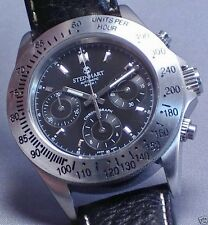 STEINHART MACH 1 CHRONOGRAPH Watch, 51 Jewel Dubois Dépraz, 42mm, Stainless, Box